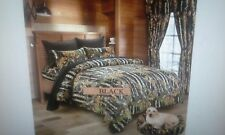 7 PIECE THE WOODS CAMO DESIGN  BLACK  KING COMFORTER SET