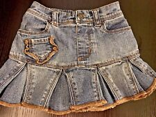 New The Children's Place Denim Pleated Skort Skirt Shorts 18 Months Adorable