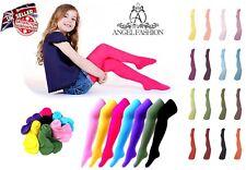 Mädchen, Baby Kinder Strumpfhose Strumpfband 16 leuchtend Farben 3 Größen Alter