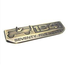 2 Pcs 75 Year 1941 Anniversary Metal Emblem for Jeep Wrangler CHEROKEE Patriot