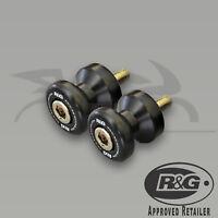 Kawasaki ZX10R 2011 - 2015 R&G Racing Cotton Reels Paddock Stand Bobbins Black