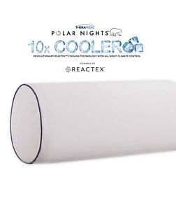 Therapedic Polar Nights 10X Cooling Memory Foam Neck Roll Support Pillow NWT