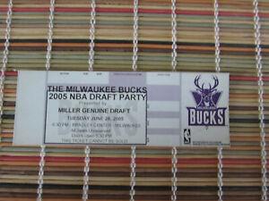 2005 THE MILWAUKEE BUCKS NBA DRAFT PARTY TICKET