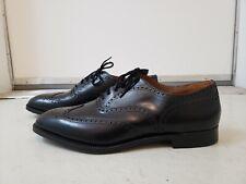 NEW CHURCH'S Custom Mens Burwood Black Leather Oxford Wingtip Shoes England $790
