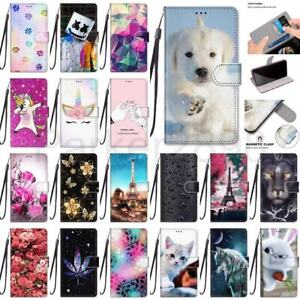 Case For Samsung Galaxy S21 S20 S10 S9 Ultra Plus FE Pattern Wallet Flip Cover