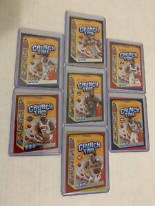 20-21 Donruss Crunch Time Insert 7-Card Lot - Zion, Ja, Trae, Harden, and more!