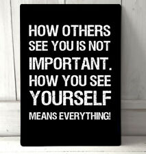 How others see you Super Hero Quote movie inspired sign A4 metal plaque