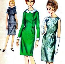 "Vintage 60s Mod DRESS Sewing Pattern Bust 36"" Sz 12 RETRO Evening COCKTAIL Prom"