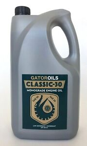 5 Litre GATOR SAE 30 Classic Car & Bike Monograde Engine Motor Oil Low Detergent