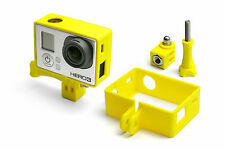 Frame Mount Tripod Mount per GoPro Go Pro HD HERO 3 Black Accessori Adattatore YELLOW