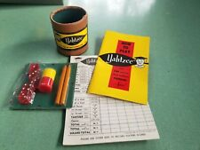 Vintage Yahtzee Game Manual Cup Score Cards Chips Red Dice Replacement Parts