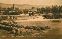 City Park Walla Walla Washington #1484 Postcard 1912 Mitchell 20-6925