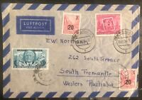 1954 Weimar DDR East Germany Airmail Cover To South Fremantle Australia