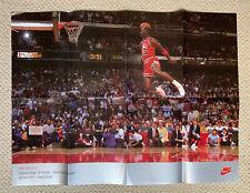 Vintage NIKE MICHAEL JORDAN 1988 MVP Dunk Contest Champion Poster 23.5 x 31.5
