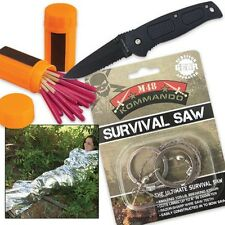 Mini Emergency Survival Kit with Matches, Knife, Shelter & Saw - Free Shipping!
