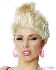 P!NK / ROXETTE Blonde Rocker Short Wig 80s Costume Fancy Dress Party PINK Spikey