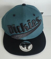 "Dickies ""Lisbon"" Round Brim Snap Back Cap- OSFM -   Dirty Turquoise & Black"