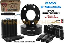 E36 E46 (2) 5mm + (2) 20mm BMW Wheel Spacers +12x1.5 Racing 90mm Stud Conversion