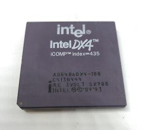 Intel 486 DX4 100MHZ A80486DX4 SX900 i486 CPU Processor Vintage Rare 3V 33/100