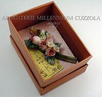 BOMBONIERE FIORI MATRIMONIO CERAMICA MAZZOLINO ROSE PORCELLANA BOUQUET FLOWERS