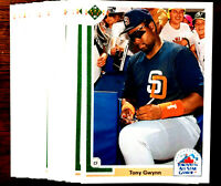 1991 Upper Deck TONY GWYNN ~ 20 CARDS LOT ~ HOF PADRES HALL OF FAME INDUCTEE