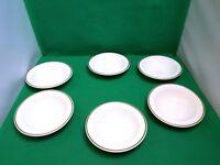 Wedgwood Metallised White / Gold Cereal Bowls x 6