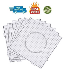 5 mm Large Square Fuse Beads Boards Clear Plastic Pegboards Craft Beads 6 Pieces