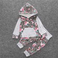 1 Juego Bebé Recién Nacido Infantil Niña Capucha Suéter Camiseta Jersey