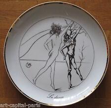DALI ASSIETTE 1980 LES 7 ARTS LA DANSE PORCELAINE SIGNÉE 5000 EX. SIGNED PLATE