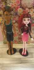 Monster High Doll Set Bundle Music Festival - Draculaura And Clawd Wolf & Stands