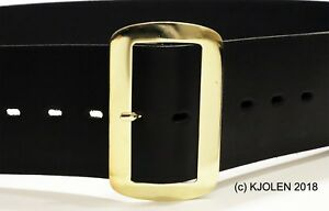 SANTA CLAUS BELT MATTE FINISH LEATHER 3 INCH CHRISTMAS PIRATE GOLD SILVER BUCKLE