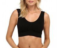 Coobie 146408 Women's Seamless Comfort Bra Black Sz L