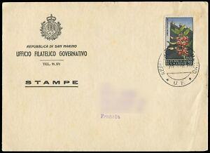 San Marino 1967 Flower Stamp on Cover (160)