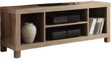 Rustic Oak TV Stand Console For TVs Up To 42 Home Wooden Entertainment Center