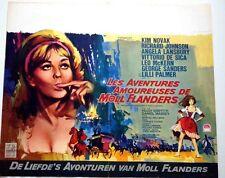 AMOROUS ADVENTURES OF MOLL FLANDERS Belgian movie poster KIM NOVAK RAY ELSEVIERS