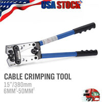 Cable Lug Crimping Tool For Wire Lugs,Battery Terminal,Copper Lugs 6-50mm² US