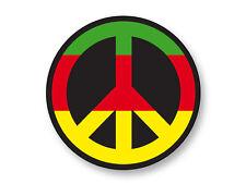 Magnet Aimant Frigo Ø38mm Rasta Peace Paix Reggae Symbole Rastafarian
