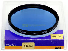 55mm. filtro di conversione 80b blu Hoya. 80b filter.