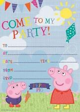 PEPPA PIG PACK OF 20 PARTY INVITATIONS NEW GIFT