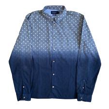 Mens PAUL SMITH Slim Fit Shirt   Large L   Polka Dot Two Tone Long Sleeve
