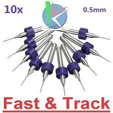 "10 Micro punte 0.5mm  ø 1/8"" 3.175mm PCB Drill Bits CNC 3d Print Circuit Board"