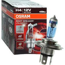 OSRAM NIGHT BREAKER UNLIMITED +110% H4 64193NBU Halogen Lampe P43t 60/55W 12V