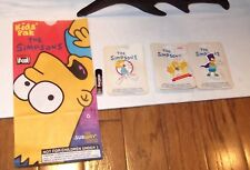 RARE Vintage The Simpsons BRAND NEW buttons or pin backs - lot set of 4 + subway