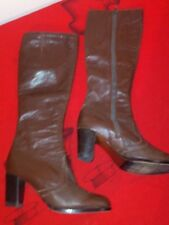 Giusti Italian Leather Boots Vintage Brown Knee High Boots Women's
