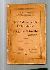 CARTON 1931 naturopathie TRAITE DE MEDECINE D'ALIMENTATION ET HYGIENE NATURISTE