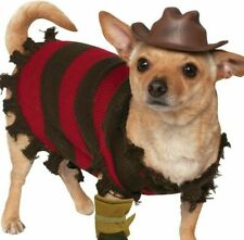 A Nightmare On Elm Street Pet Dog Cat Freddy Krueger Costume MED LARGE XL NWT
