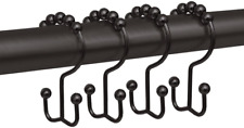 MAYTEX Metal Double Roller Glide Shower Curtain Ring/Hooks Oil Rubbed Bronze..