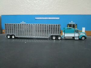 HO Scale 1/87 Custom KW-900 Truck & Barrett Livestock Trailer Tonkin Athearn lot