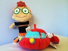"Little Einsteins LEO Pat ROCKET Doll Stuffed Plush Soft Toy Beanies Set 8"" NEW!"