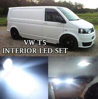 WHITE INTERIOR LIGHTS Upgrade LED Bulb Kit For Volkswagen VW Transporter T5